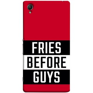 FUSON Designer Back Case Cover for Sony Xperia XA :: Sony Xperia XA Dual (Food Before Dudes Food Lovers Mac D Lovers )