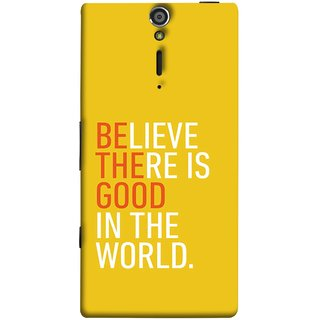 FUSON Designer Back Case Cover for Sony Xperia SL :: Sony Xperia S :: Sony Xperia SL LT26I LT26ii (Think Positive Act Nicely Good Peoples Happy World)