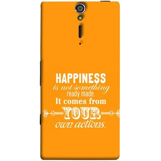 FUSON Designer Back Case Cover for Sony Xperia SL :: Sony Xperia S :: Sony Xperia SL LT26I LT26ii (It Comes From Your Own Actions Happy In Life)