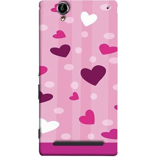 FUSON Designer Back Case Cover for Sony Xperia T2 Ultra :: Sony Xperia T2 Ultra Dual SIM D5322 :: Sony Xperia T2 Ultra XM50h (Always I Love You Red Hearts Couples Together Valentine)