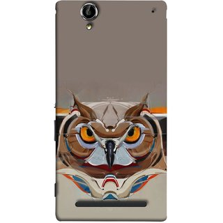 FUSON Designer Back Case Cover for Sony Xperia T2 Ultra :: Sony Xperia T2 Ultra Dual SIM D5322 :: Sony Xperia T2 Ultra XM50h (Multicolour Owl Perfect Look King Bird Night Tree )