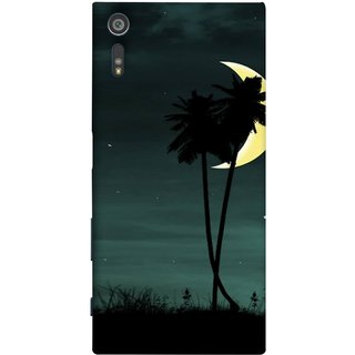 FUSON Designer Back Case Cover for Sony Xperia XR (Coconut Trees Beautiful Moon Stars Light Evening )