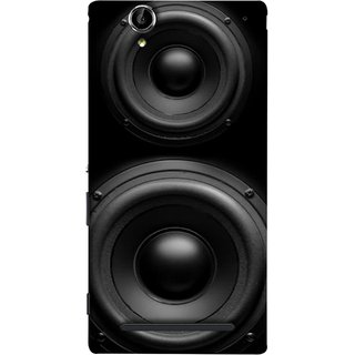 FUSON Designer Back Case Cover for Sony Xperia T2 Ultra :: Sony Xperia T2 Ultra Dual SIM D5322 :: Sony Xperia T2 Ultra XM50h ( Closeup At Moving Sub-Woofer. Speaker Part Abstract)