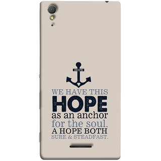 FUSON Designer Back Case Cover for Sony Xperia T3 (A Hope Both Sure And Steadfast Deep Sea Anchor Ship)
