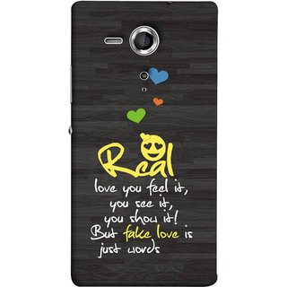 FUSON Designer Back Case Cover for Sony Xperia SP :: Sony Xperia SP HSPA C5302 :: Sony Xperia SP LTE C5303 :: Sony Xperia SP LTE C5306 (Real Love True False Love Words See It Show It )