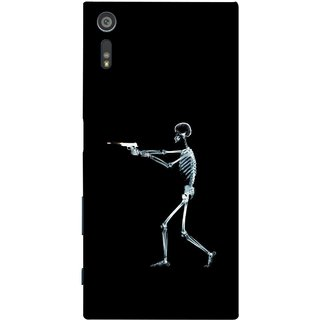 FUSON Designer Back Case Cover for Sony Xperia XR (Incredible Human Xray Pictures Revolver Icon In Black)