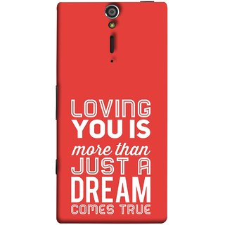 FUSON Designer Back Case Cover for Sony Xperia SL :: Sony Xperia S :: Sony Xperia SL LT26I LT26ii (Comes True Love You Forever Valentine Couples Lovers)