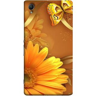 FUSON Designer Back Case Cover for Sony Xperia X :: Sony Xperia X Dual F5122 (Butterfly Bright Beautiful Colorful Yellow Splendo Trees )