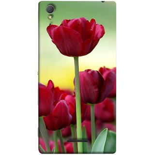 FUSON Designer Back Case Cover for Sony Xperia T3 (Dark Bold Red Roses Chocolate Hearts For Valentines Day)