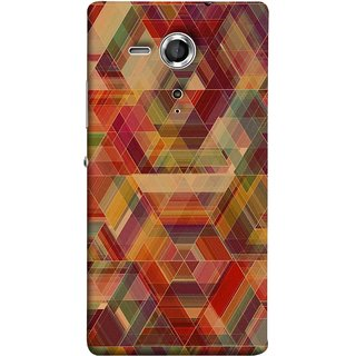 FUSON Designer Back Case Cover for Sony Xperia SP :: Sony Xperia SP HSPA C5302 :: Sony Xperia SP LTE C5303 :: Sony Xperia SP LTE C5306 (Geometric Watercolour Art Print Pink Bright)
