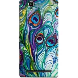 FUSON Designer Back Case Cover for Sony Xperia T2 Ultra :: Sony Xperia T2 Ultra Dual SIM D5322 :: Sony Xperia T2 Ultra XM50h (Colourful Psychee Vibrant Colors Modern Art Silk Paintings )