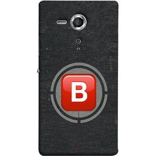 FUSON Designer Back Case Cover for Sony Xperia SP :: Sony Xperia SP HSPA C5302 :: Sony Xperia SP LTE C5303 :: Sony Xperia SP LTE C5306 (B Is Ok Initial Red Glossy Round Icon B Random Red)