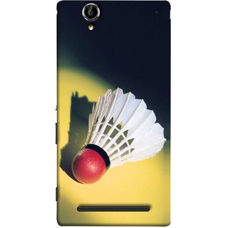 FUSON Designer Back Case Cover for Sony Xperia T2 Ultra :: Sony Xperia T2 Ultra Dual SIM D5322 :: Sony Xperia T2 Ultra XM50h (Isolated On Light Yellow Game Gold Match Winner Loser )