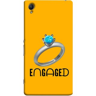 FUSON Designer Back Case Cover for Sony Xperia X :: Sony Xperia X Dual F5122 (Couple Marriage Engegement Ring With Beautiful Diamond)