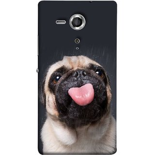 FUSON Designer Back Case Cover for Sony Xperia SP :: Sony Xperia SP HSPA C5302 :: Sony Xperia SP LTE C5303 :: Sony Xperia SP LTE C5306 (Kissing Hanging Out Black And White Cream Colour)