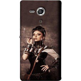 FUSON Designer Back Case Cover for Sony Xperia SP :: Sony Xperia SP HSPA C5302 :: Sony Xperia SP LTE C5303 :: Sony Xperia SP LTE C5306 (Mad Men Beauty Moments Betty Draper Smoking )