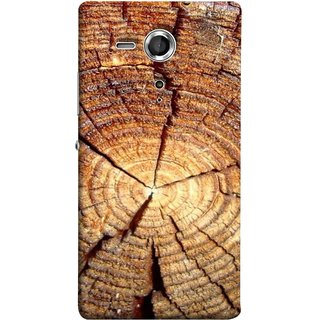 FUSON Designer Back Case Cover for Sony Xperia SP :: Sony Xperia SP HSPA C5302 :: Sony Xperia SP LTE C5303 :: Sony Xperia SP LTE C5306 (Lot Of Cracks In Tree Wood Wild Old Tree)