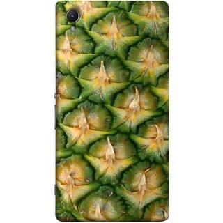 FUSON Designer Back Case Cover for Sony Xperia X :: Sony Xperia X Dual F5122 (Pineapple Skin Interesting Textured Art Design )