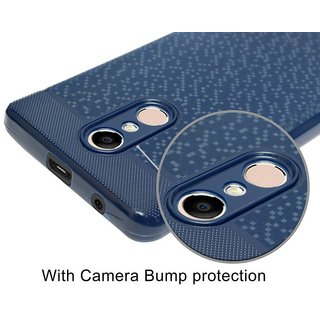 Gionee S10 Soft Back Cover With Camera Protection (Dark Blue)