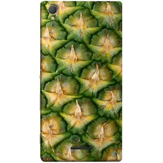 FUSON Designer Back Case Cover for Sony Xperia T3 (Pineapple Skin Interesting Textured Art Design )
