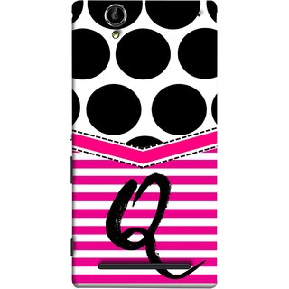 FUSON Designer Back Case Cover for Sony Xperia T2 Ultra :: Sony Xperia T2 Ultra Dual SIM D5322 :: Sony Xperia T2 Ultra XM50h (Beautiful Cute Nice Couples Pink Design Paper Girly Q)