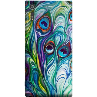 FUSON Designer Back Case Cover for Sony Xperia XR (Colourful Psychee Vibrant Colors Modern Art Silk Paintings )