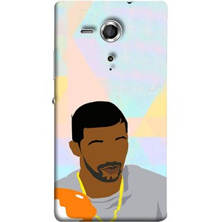 FUSON Designer Back Case Cover for Sony Xperia SP :: Sony Xperia SP HSPA C5302 :: Sony Xperia SP LTE C5303 :: Sony Xperia SP LTE C5306 (Eggs On Beach Gold Chain Jewellery Eyebrows Grey)