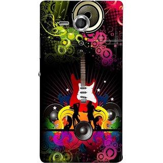 FUSON Designer Back Case Cover for Sony Xperia SP :: Sony Xperia SP HSPA C5302 :: Sony Xperia SP LTE C5303 :: Sony Xperia SP LTE C5306 (Abstract Colorful Music Dance Background Design )