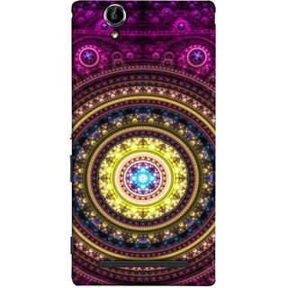 FUSON Designer Back Case Cover for Sony Xperia T2 Ultra :: Sony Xperia T2 Ultra Dual SIM D5322 :: Sony Xperia T2 Ultra XM50h (Best Rangoli Patterns Treditional Photo Wallpapers )