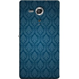 FUSON Designer Back Case Cover for Sony Xperia SP :: Sony Xperia SP HSPA C5302 :: Sony Xperia SP LTE C5303 :: Sony Xperia SP LTE C5306 (Blue Artwork Student Spots Amazing Plywood Table Cloth)