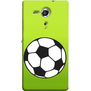 FUSON Designer Back Case Cover for Sony Xperia SP :: Sony Xperia SP HSPA C5302 :: Sony Xperia SP LTE C5303 :: Sony Xperia SP LTE C5306 (Football Ground Ball Black White Fifa League )