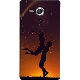 FUSON Designer Back Case Cover for Sony Xperia SP :: Sony Xperia SP HSPA C5302 :: Sony Xperia SP LTE C5303 :: Sony Xperia SP LTE C5306 (Milky Way Stars Love Couples Lovers Family Love)