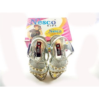 Girls shoes in Bellies Nesco Kids beautifull bellie in silver black white Golden black color in size 3 4 5 6