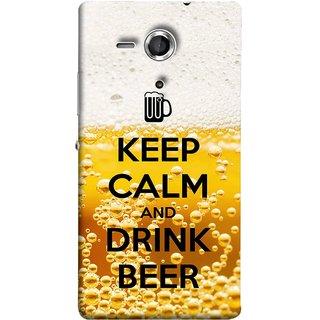 FUSON Designer Back Case Cover for Sony Xperia SP :: Sony Xperia SP HSPA C5302 :: Sony Xperia SP LTE C5303 :: Sony Xperia SP LTE C5306 (Beer Sign Glasses Bubbles Daaru Drink Wine Vodka)