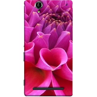 FUSON Designer Back Case Cover for Sony Xperia T2 Ultra :: Sony Xperia T2 Ultra Dual SIM D5322 :: Sony Xperia T2 Ultra XM50h (Floral Patterns Shining Dark Red Florals Design Patterns)