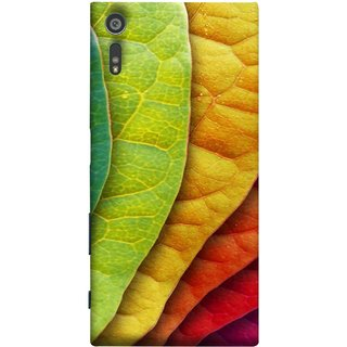 FUSON Designer Back Case Cover for Sony Xperia XR (Nature Colour Big Lotus Leaves Network Of Veins)