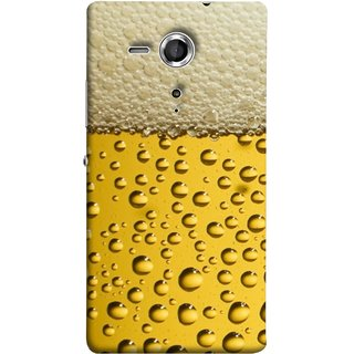 FUSON Designer Back Case Cover for Sony Xperia SP :: Sony Xperia SP HSPA C5302 :: Sony Xperia SP LTE C5303 :: Sony Xperia SP LTE C5306 (Party Friendship Yaro Ki Mahfil Cold Chilled Beer Glass )