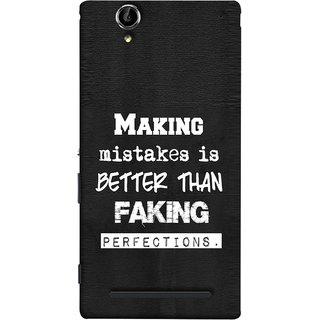 FUSON Designer Back Case Cover for Sony Xperia T2 Ultra :: Sony Xperia T2 Ultra Dual SIM D5322 :: Sony Xperia T2 Ultra XM50h (Motivational Inspirational Saying Quotes Words Big)