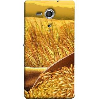 FUSON Designer Back Case Cover for Sony Xperia SP :: Sony Xperia SP HSPA C5302 :: Sony Xperia SP LTE C5303 :: Sony Xperia SP LTE C5306 (Wheat Farmers Farms Morning Sunlight Bright Day)