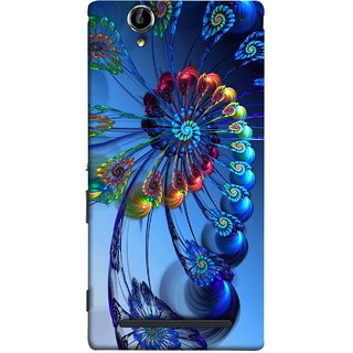 FUSON Designer Back Case Cover for Sony Xperia T2 Ultra :: Sony Xperia T2 Ultra Dual SIM D5322 :: Sony Xperia T2 Ultra XM50h (Best Animation Artwork Pattern Rangoli Best Painting )