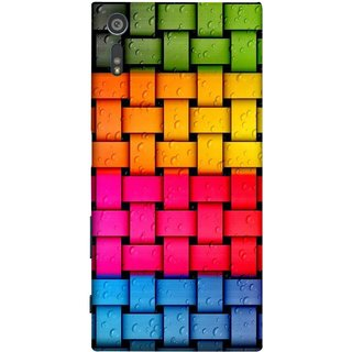 FUSON Designer Back Case Cover for Sony Xperia XR (Bright And Beautiful Colour Strips And Band Glossy)
