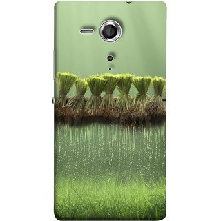 FUSON Designer Back Case Cover for Sony Xperia SP :: Sony Xperia SP HSPA C5302 :: Sony Xperia SP LTE C5303 :: Sony Xperia SP LTE C5306 (Sheaves Of Recently Harvested Rice Hanging To Dry)