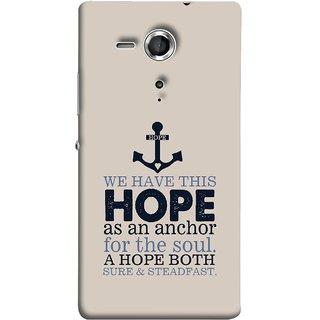 FUSON Designer Back Case Cover for Sony Xperia SP :: Sony Xperia SP HSPA C5302 :: Sony Xperia SP LTE C5303 :: Sony Xperia SP LTE C5306 (A Hope Both Sure And Steadfast Deep Sea Anchor Ship)