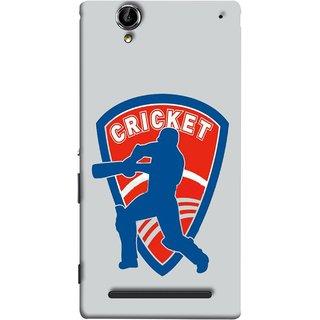 FUSON Designer Back Case Cover for Sony Xperia T2 Ultra :: Sony Xperia T2 Ultra Dual SIM D5322 :: Sony Xperia T2 Ultra XM50h (County Cricket India Aus England Bat Ball Batsman)