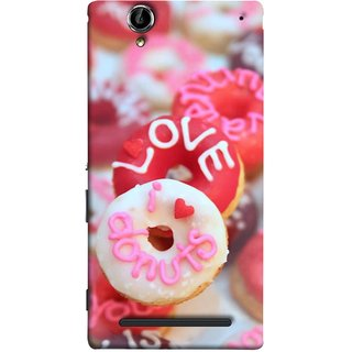 FUSON Designer Back Case Cover for Sony Xperia T2 Ultra :: Sony Xperia T2 Ultra Dual SIM D5322 :: Sony Xperia T2 Ultra XM50h (I Love Candy Chocolate Marshmallo Colourful Child)
