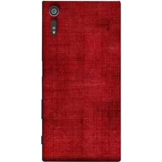 FUSON Designer Back Case Cover for Sony Xperia XR (Cloth Design Dark Red Maroon Paper Sheet Bloody)