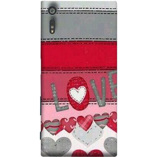 FUSON Designer Back Case Cover for Sony Xperia XR (Love Birds Couples Forever Full Of Love Pyar Valentine)