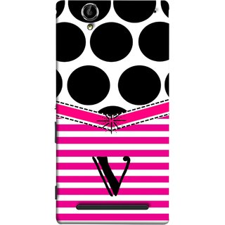 FUSON Designer Back Case Cover for Sony Xperia T2 Ultra :: Sony Xperia T2 Ultra Dual SIM D5322 :: Sony Xperia T2 Ultra XM50h (Beautiful Cute Nice Couples Pink Design Paper Girly V)