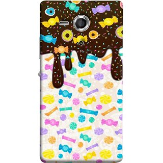 FUSON Designer Back Case Cover for Sony Xperia SP :: Sony Xperia SP HSPA C5302 :: Sony Xperia SP LTE C5303 :: Sony Xperia SP LTE C5306 (Candies Candy Chocolate Marshmallo Colourful Child)