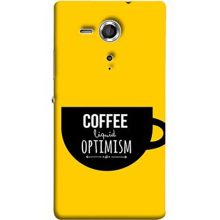 FUSON Designer Back Case Cover for Sony Xperia SP :: Sony Xperia SP HSPA C5302 :: Sony Xperia SP LTE C5303 :: Sony Xperia SP LTE C5306 (Lost Bumblebee Right Coffee Fuel Buy Gourmet Coffee)